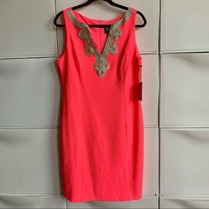 Vince Camuto Dress Corail & Gold Size 12